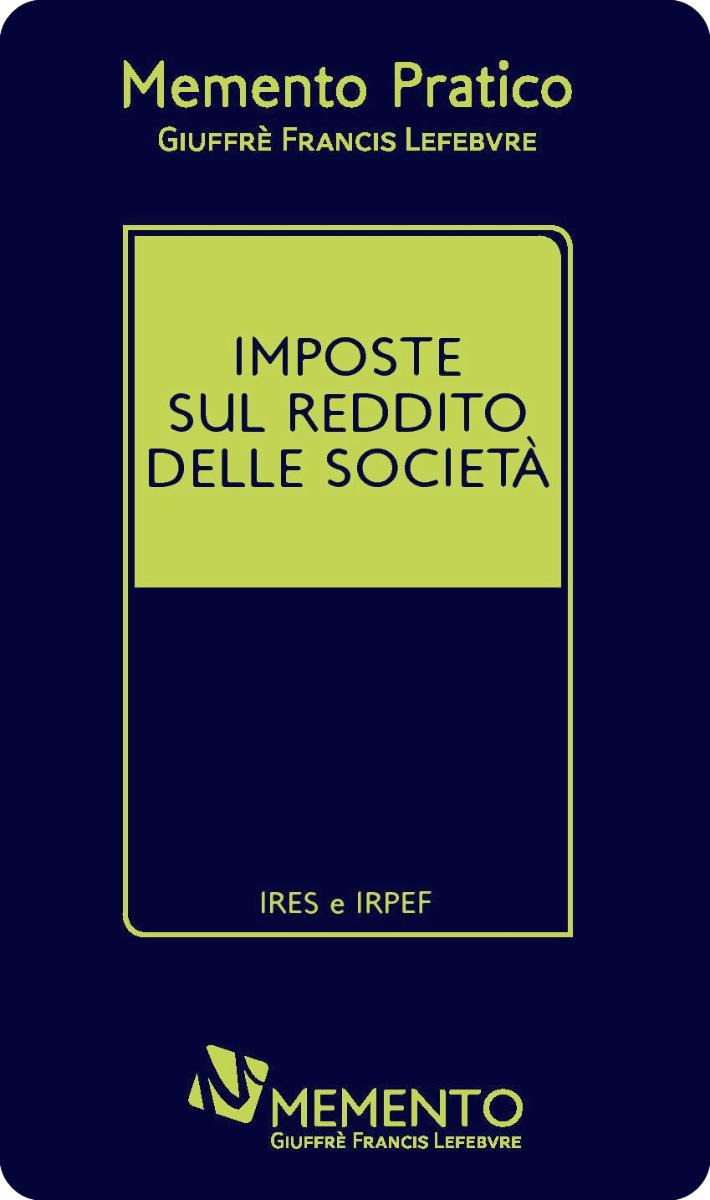 Memento Imposte sul reddito delle società